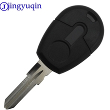 jingyuqin 1 Button Car-Styling Remote Car Key Shell Case For Fiat Transponder Car Key Shell Blank Case Cover No Chip Fob No Logo(China)
