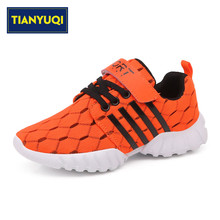 TIANYUQI Children Sports Shoes Boys Trainers Shoes Summer Breathable Lace-up Mesh Running Shoes Outdoor Kids Sneakers Size 26-38(China)