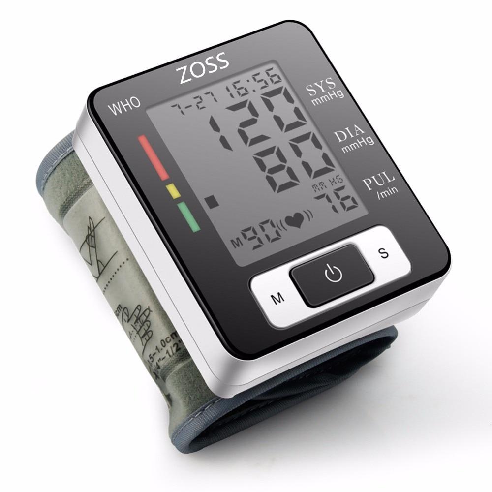 ZOSS or Voice Cuff Wrist Sphygmomanometer <font><b>Blood</b></font> <font><b>Monitor</b></font> Heart Rate Portable Tonometer