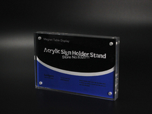 14.8*21CM A5 magnetic advertising tag sign card display stand poster photo frame Acrylic table menu service label holder(China)