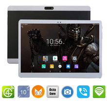"Free Shipping 2017 Newest Octa Core 10 inch Tablet PC 3G 4G Lte 4GB RAM 64GB ROM Android 6.0 GPS Tablet PC 10""+Free Leather Case"