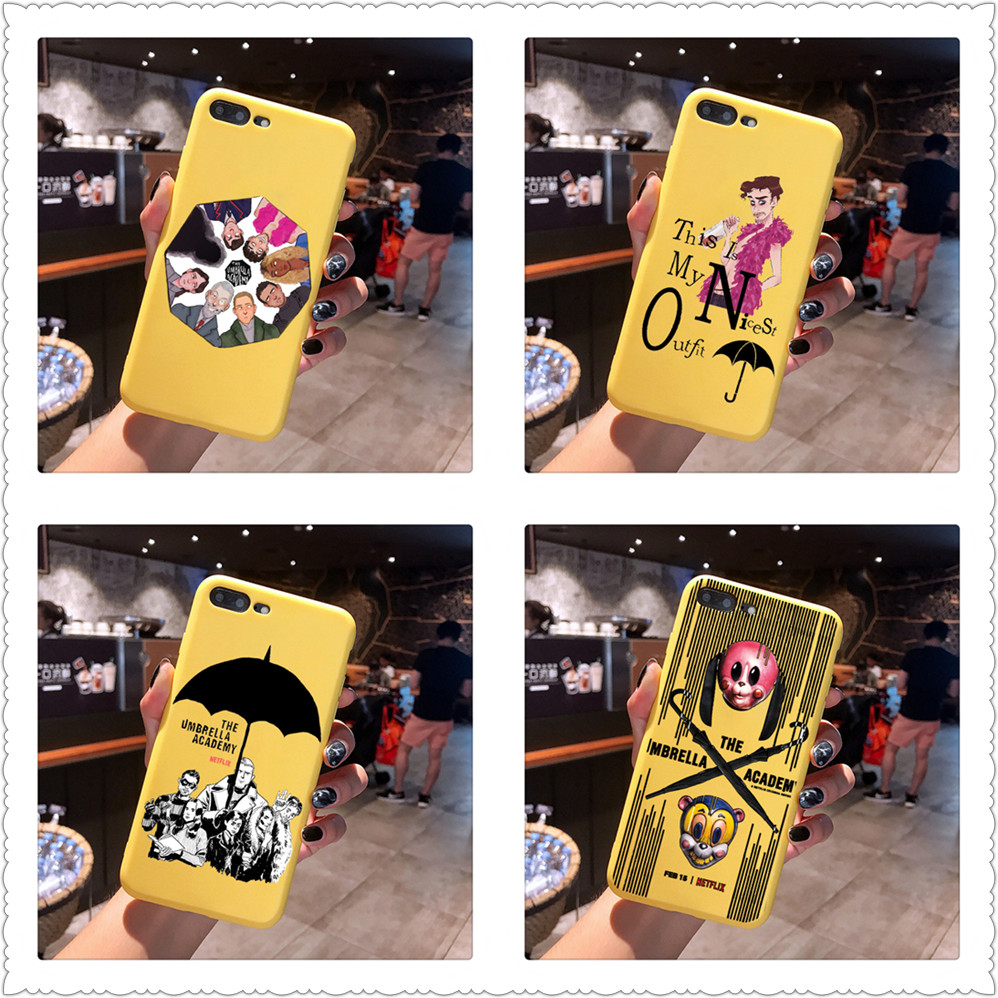 New TV The Umbrella Academy fashion Candy Color TPU Case phone For iphoneX 7 8 XS XR XSMAX Pink Red Yellow purple Cover