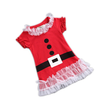2017 Christmas girl winter dress children's clothing infant baby dress Christmas gift for kids boutique party dress for 1-6Y