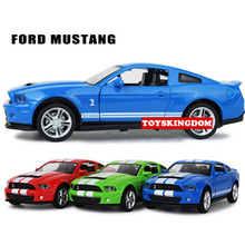 Hot 1:32 scale wheels ford Mustang GT500 diecast sports cars metal model pull back alloy toys with light and sound collection