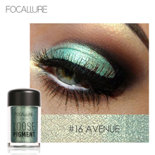New Focallure Single Color Loose Eyeshadow Powder Pigments Shining Shimmer Glitter Minerals White Red Brand Eye Shadow maquiagem(China)