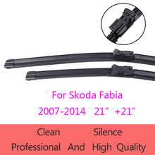 "High-Quality Windshield Wiper Blades for Skoda  Fabia  2007-2014  21""+21"" Car Accessories Soft Rubber Wiper Blades"