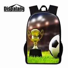 Dispalang Boys School Backpack Soccerly Printed Bookbags for Teeengers Cool Traveling Back Pack Footbally Mochilas for College