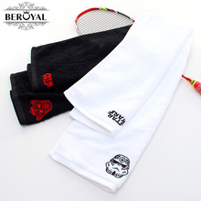 Wholesale New 2017 Personalized Customized Gym Towel -- 100% Cotton Embroidery Towel Terry Customized Towel for Sport  20*110cm