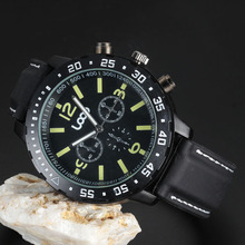 Top Brand Loop Logo Men Sport Military Watch Silicone Strap Chronograph Quartz Watch Movement Luminous Mens Best Gift Wristwatch