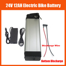 24V lithium battery 24V 12AH 350W Electric Bike battery 24 v battery with 29.4V 2A charger and 15A BMS Bottom Discharge Free tax(China)