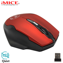 2.4GHz 6 Buttons Wireless Mouse Silence Click Mini USB Optical Computer Gaming Mouse Cordless Mouse Mice For PC Laptop Notebook(China)