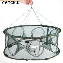 Folding Rede Fishing Net Crawfish Mesh Fishing Network Casting Shrimp Cast Dip Mesh Fish Net Minnow Lobster Crab Fish Trap Cages(China)