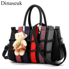 Dinaseuk Women PU Knitting Top Handle Purse Shoulder Bag lady's Fashion Crossbody College Working Purses and Tote Handbags Bags