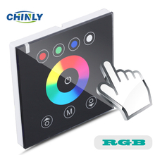 DIY home lighting NEW RGB LED Touch switch Panel Controller led dimmer for DC12V LED strip lights(China)