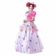 Cosplaylegend Woody's girlfriend Toy Story Bo peep Cosplay adult costume Pink Dress custom made(China)