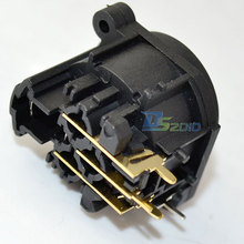 High Quality Brand New XLR Female Jack Panel Mount Connector 3 Pin Copper Gold Adapter Adaptor New