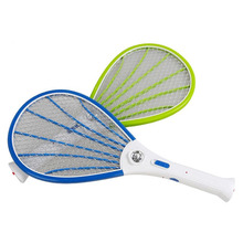 Removable Battery Rechargeable Electric Swatter Pest Control Insect Bug Fly Mosquito Killer With LED Lighting