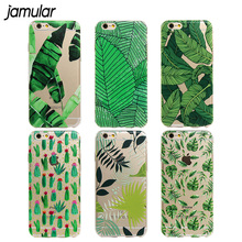 Buy JAMULAR Green Plants Desert Cactus Pattern Case iphone 8 6 6s Plus 5s SE Cover Clear Phone Cases iphone 7 8 Plus Fundas for $1.79 in AliExpress store