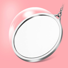 Creative makeup mirror cute Portable Leather Case Small Mirror Lady round princess beauty mirror.