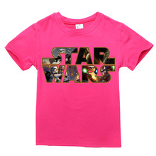 TINOLULING hot selling new summer short sleeve cotton t shirts boys star war cartoon teenage big children t-shirt kids tops