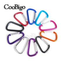 5pcs/Pack Colorful Aluminum Carabiner Spring Snap Hook Clip D-ring Keychain Camping Hike Backpack Bag Parts Paracord Kits#FLQ098