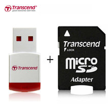 Transcend Adapter RDP3 Micro USB/USB 2.0 Memory Card Reader Micro SD Card Reader TransFlash TF Memory Card Adaptor(China)