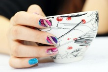 1 Set = 2 Nail Patch+ 1 Nail File +2 Remover Pads DIY Nail Art  Nail Decorations for Manicure