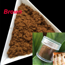 10g/bottle Nail Glitter Brown Nail Decoration Fuzzy Flocking Manicure Velvet Powder Nylon Powder For 3D Candy Nail Art Tips 2422(China)
