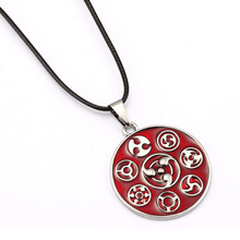 ORNAPEADIA Anime products hot selling Naruto Sasuke logo write wheel set necklace fine jewelry accessories wholesale(China)