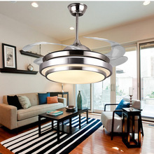 2016LED Modern simple invisible fan lamp 110V/220V Wireless control ceiling fan light