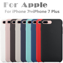 Original For Apple Liquid Silicone Case For iPhone 7 6S Plus Phone back Cover For iphone 6 6S Retail Box