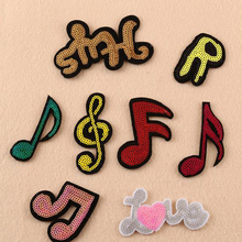Embroidered Iron on Patch  mixed Music patches small patches of Handbags & shoes Denim patch FOR clothing accessories