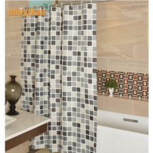 Bathroom Shower Curtain The Mosaic Pattern 130g Of Figured Dacron Cloth Toilet Partition Curtain Waterproof Mouldproof(China)