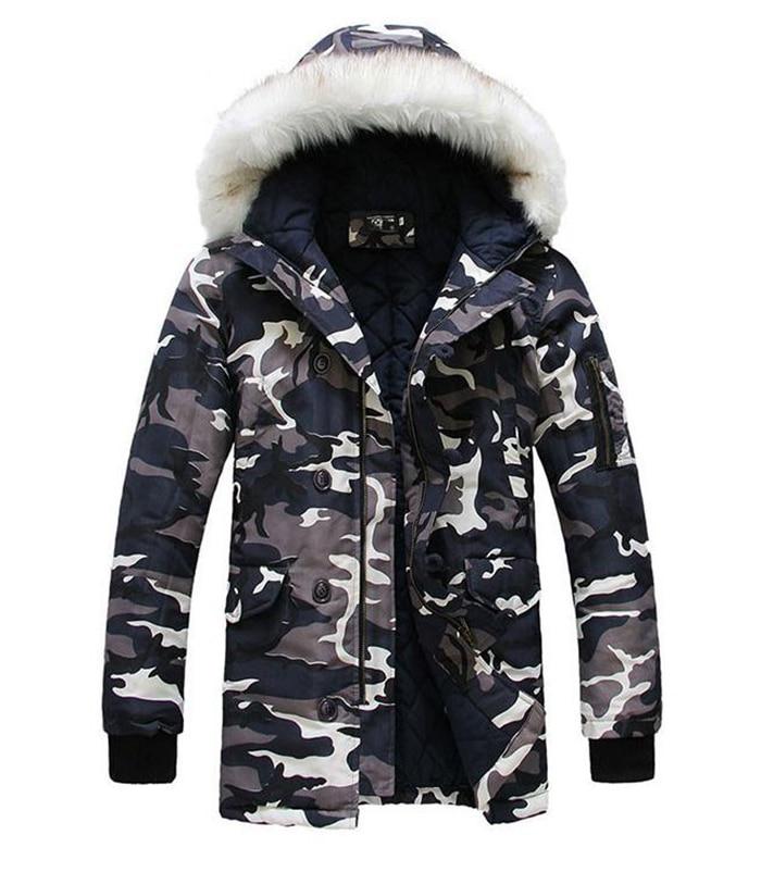 Hot Sale Camouflage Jackets 2015 New Designer Brand Fashion Winter Jacket Men Camo Snow  Long Casual Coats Jacket FC1722Одежда и ак�е��уары<br><br><br>Aliexpress