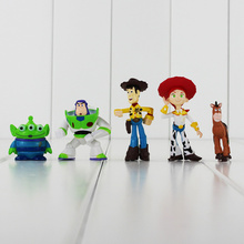 5pcs/lot Toy Story 3 Figure Buzz Lightyear Woody Jessie Rex Alien Bullseye Horse Figure Toys Collective Doll Kids Gift(China)