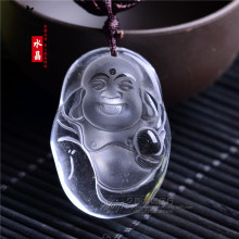 natural white crystal pendant Pendant Light cartoon Buddha Buddha Maitreya transport safety