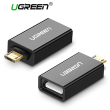 Ugreen Micro USB to USB OTG Adapter Male to USB 2.0 Micro Adapter Converter for Samsung Xiaomi LG Huawei Android Mobile Phones