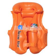 Inflatable Swimming Vest Training Swim Trainer Vest for Kids Step B - Orange