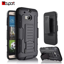 For HTC One M8 Case Soft Silicone + PC 3 in 1 Heavy Duty Military Armor holster Stand Shock Proof Cover