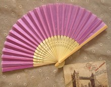 DHL 100pcs/lot Personalized Silk wedding hand fans silk wedding fans +printing your text(China)