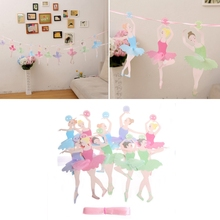 Ballet Girl Paper Banner Garland Hanging Bunting Wedding Birthday Party Decor