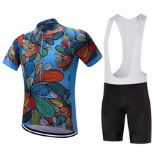 2018 Blue sky flower cycling team  jersey bike short MTB Ropa Ciclismo PRO cycling WEAR mens BICYCLING tops Maillot Culotte