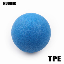 KUUBEE Fitness Massage Lacrosse Ball TPE Hard Foot Relax Relieve Fatigue Gym Training Pain Relief Fascia Hockey Ball