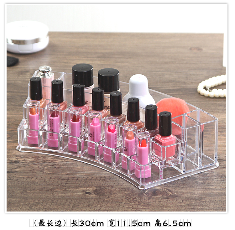 Organizador Hot Sale 2017 Acrylic Makeup Organizer Rangement Maquillage Crystal of Cosmetics Included In The of Home Storage (19)