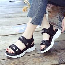 2018 Summer Women Platform Sandals Hook Loop sandalia feminina 2018 Ladies Shoes Woman Sandal Zapatos Mujer 6602