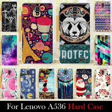 For Lenovo A536    5.0 inch Case Hard Plastic Mobile Phone Cover Case DIY Color Paitn Cellphone Bag Shell  Shipping Free