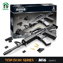 Ausini Blocks M16 Automatic Rifle Large Gun Building Blocks Set 617pcs Weapon Building Toys for Boys Bricks Compatible lepin
