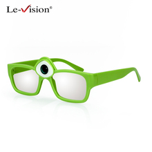 Le-Vision 3D Kids Passive Glasses Polarized Mr.Q Kid 3D Eye Glasses RealD Glasses for Movie Film Kids Present for Birthday Party(China)