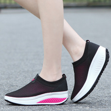 2017 New Brand Newest Running Shoes For Women Spring Summer Breathable Women Platform Height Increasing Sneakers RnA85