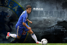 Free delivery Eden Hazard  Custom One Direction Home Decor Poster Print creative mural art Wall Sticker FREE SHIPPING More Size